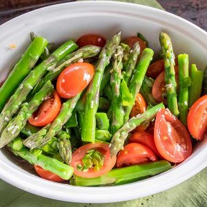 Asparagus Tomato and Basil Salad
