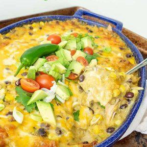 Gluten-Free Chicken Enchilada Casserole