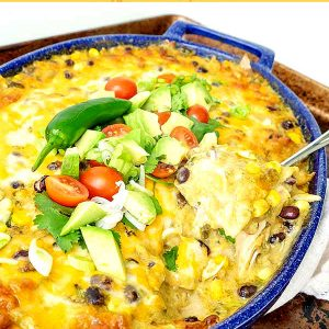 Rotisserie Chicken Enchilada Casserole (Gluten-Free)