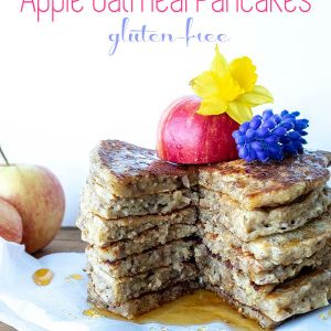 Gluten-Free Vegan Apple Oatmeal Pancakes