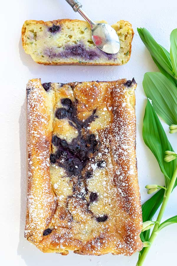 Grain-Free Blueberry Zucchini Cottage Cheese Loaf