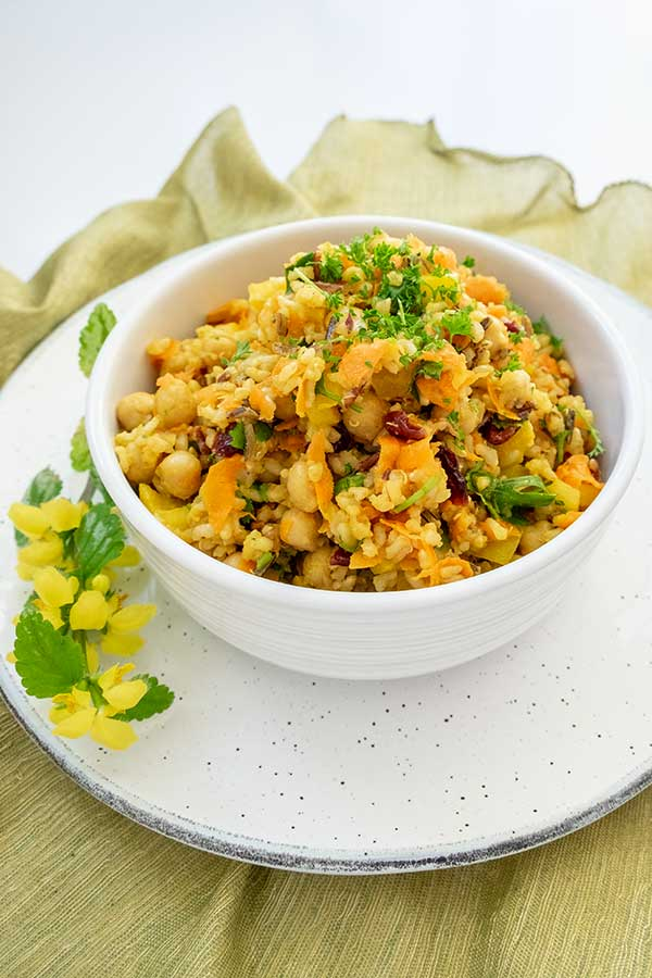Moroccan Chickpea and Rice Salad