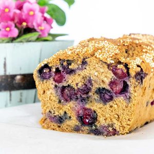 Easy Gluten-Free Quinoa Blueberry Bread