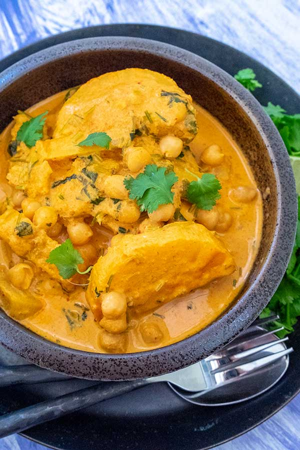 Thai Red Curry With Chickpeas and Butternut Squash