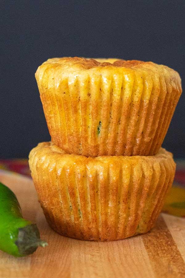 Gluten-Free Jalapeño Cheese Corn Muffins