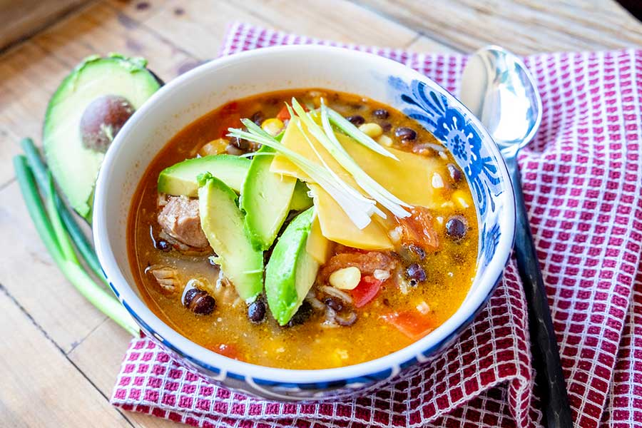 fajita chicken soup