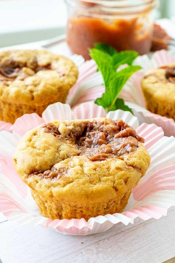 Gluten-Free Simple Jam Swirled Muffins