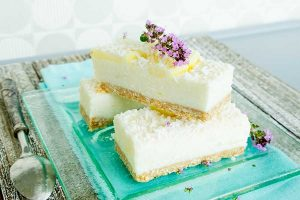 lemon coconut bar gluten free vegan