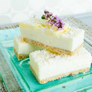 No Bake Lemon Coconut Bars (vegan, gluten-free)