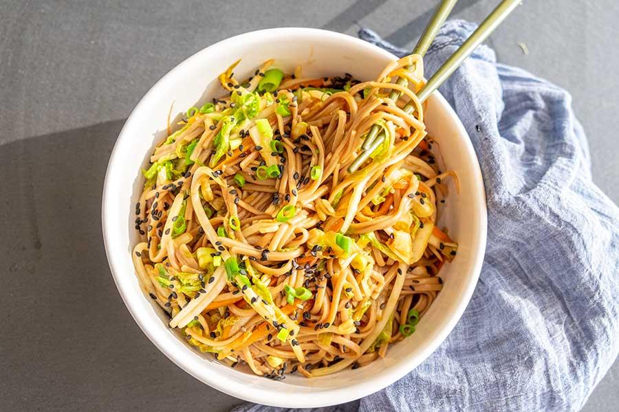 Shanghai Buckwheat Noodles (Gluten-Free, Vegan)