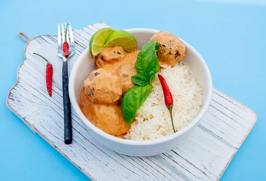 vegan thai meatballs, gluten free