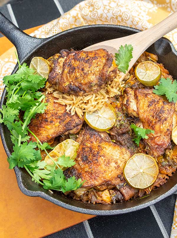 Chilli Lime Chicken With Chorizo Rice (Gluten-Free)