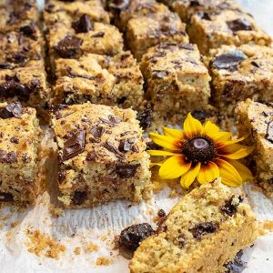 Chocolate Chunk Almond Swirl Coffee Cake (Gluten-Free)