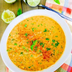 Coconut Curry Lentil Soup (Vegan, Gluten-Free)