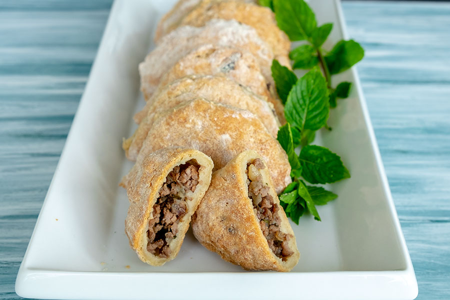 beef and potato calzone