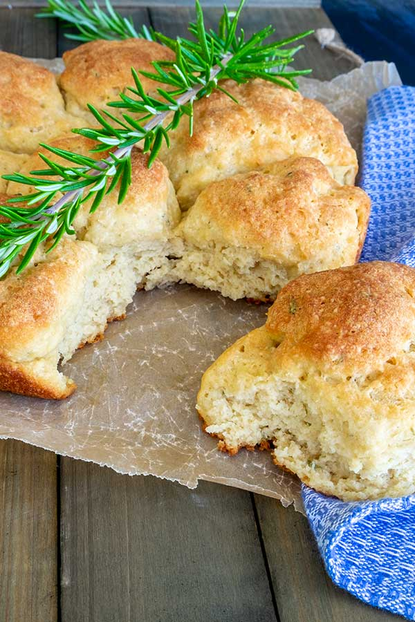 pull apart soft rolls, gluten free