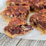chocolate pecan shortbread squares