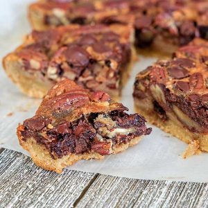 Chocolate Pecan Shortbread Squares (Gluten-Free)