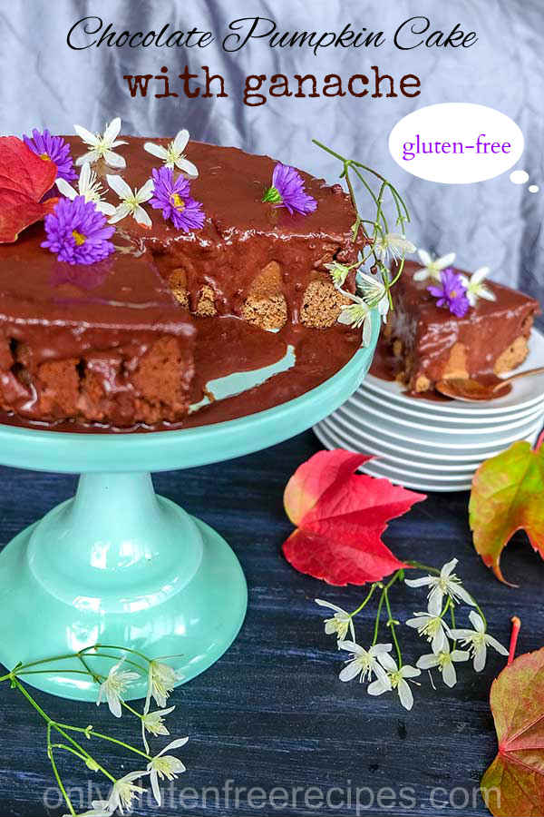 Gluten-Free Chocolate Pumpkin Cake with Ganache