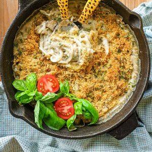 Mushroom Zucchini Tetrazzini (Vegan, Gluten-Free)
