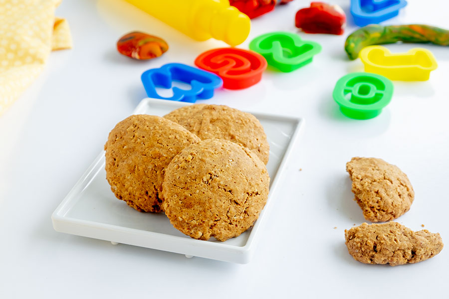 Gluten-Free Oatmeal & Almond Butter Cookies for Kids