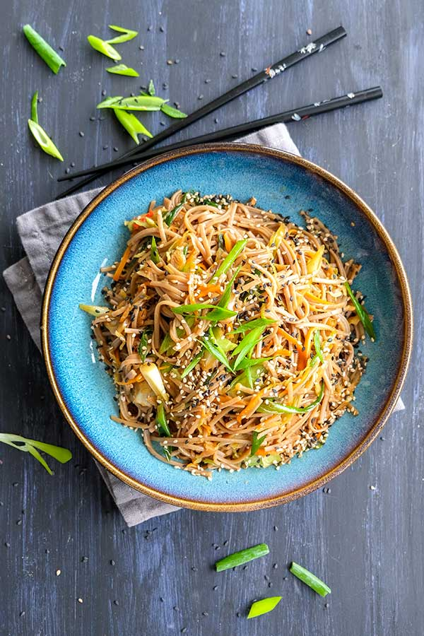 Vegetable Hibachi Noodles (Gluten-Free, Vegan)