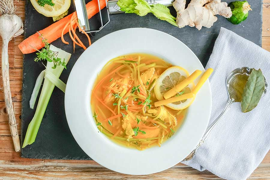 healthy soup, immune boosting