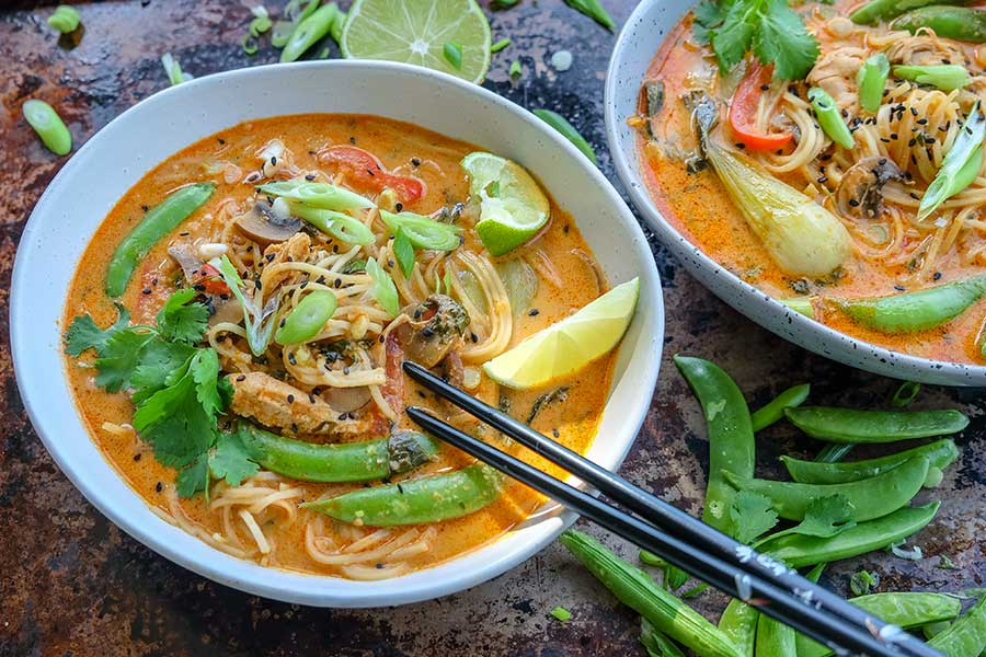 thai chicken ramen, gluten free