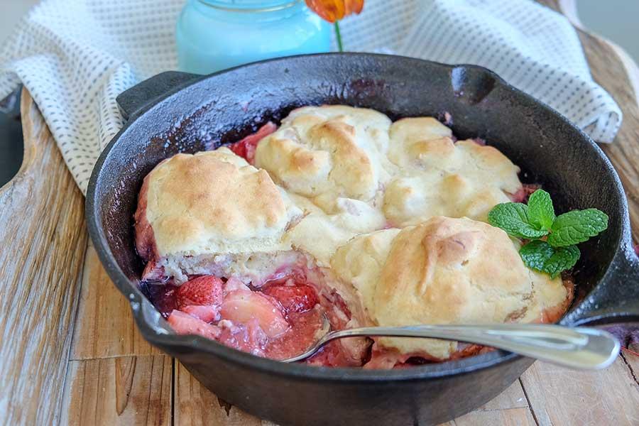 strawberry cobbler, gluten free