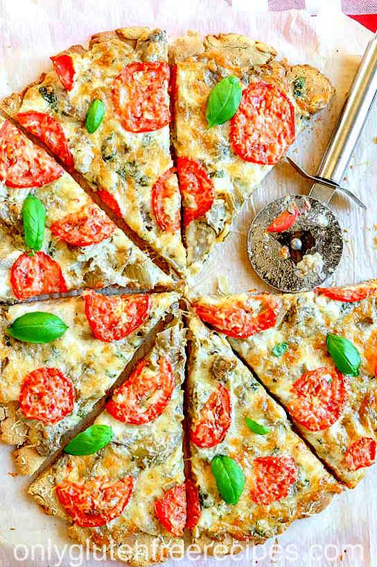 Gluten-Free Artichoke Pizza {Vegetarian}