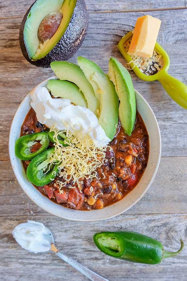 Cincinnati black bean chili