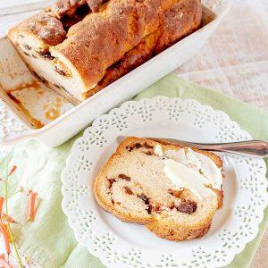 Gluten-Free Cinnamon Raisin Swirl Bread