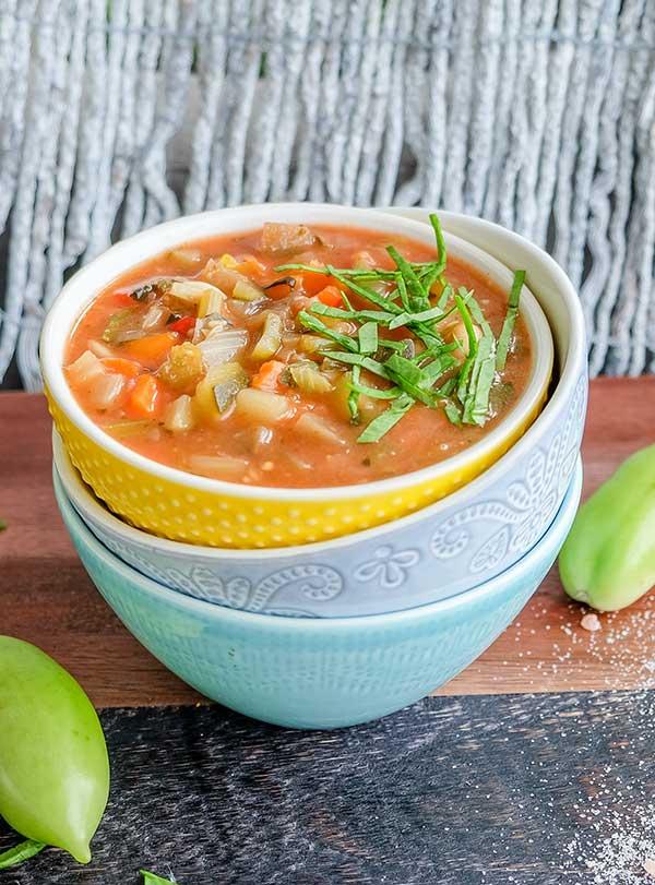 Tuscan Vegan Minestrone Soup (Gluten-Free)