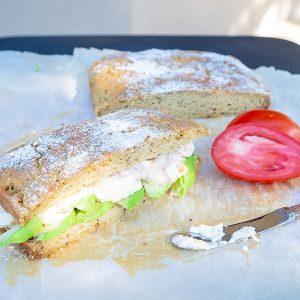 Rosemary Ciabatta Bread (Gluten-Free, Vegan)