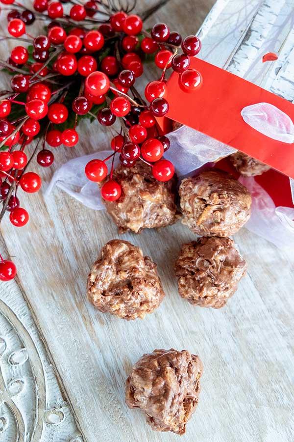 chocolate marshmallow balls, guten-free