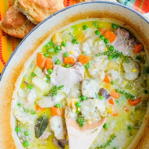 Country Style Chicken Stew With Gluten-Free Dumplings