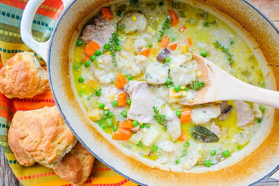 chicken stew with gluten-free dumplings