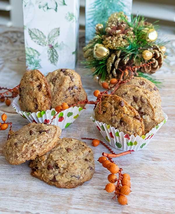 Keto Chocolate Chip Pecan Cookies {Gluten-Free, Grain-Free, Low Carb}