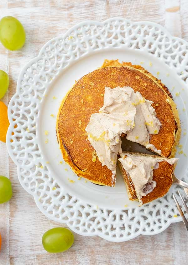 Keto Pancakes with Cinnamon Cream Cheese Butter