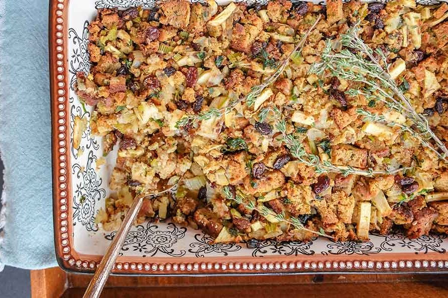 Gluten-Free Low-Fat Vegan Stuffing
