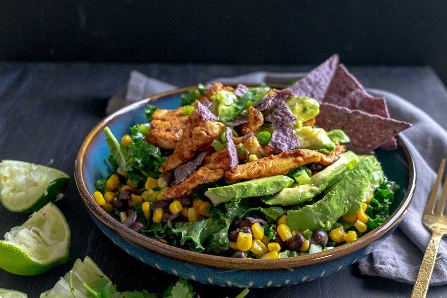 baja chicken kale salad