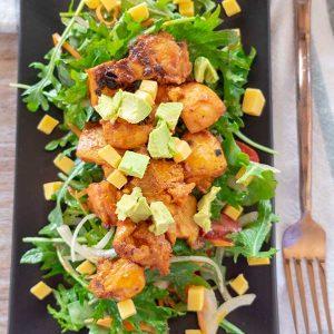 Buffalo Chicken Kale Salad {Keto, Gluten-Free}