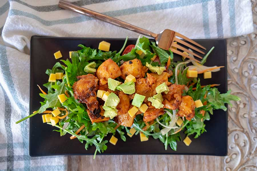 buffalo chicken kale salad
