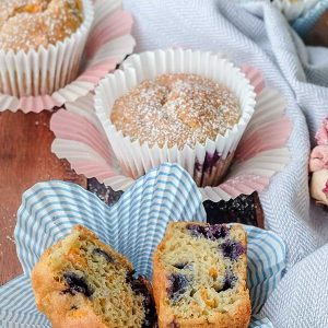 Gluten-Free Carrot Blueberry Muffin