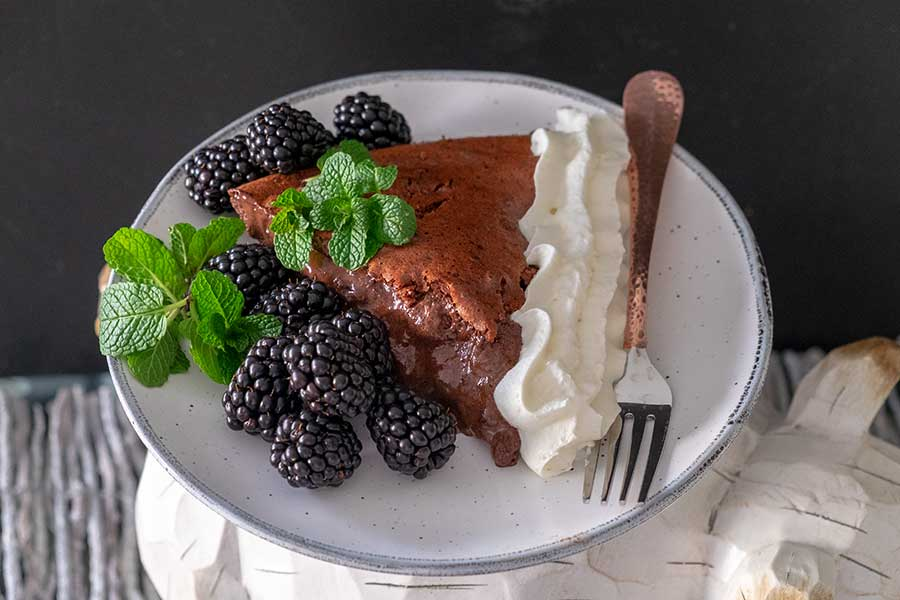 chocolate blackberry pie, gluten free