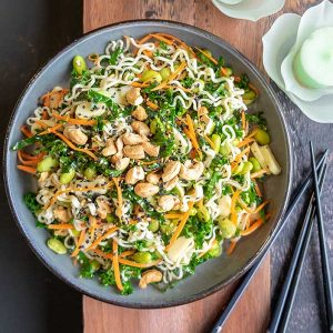 Vegan Ramen Salad With Sesame Ginger Dressing {Gluten-Free}