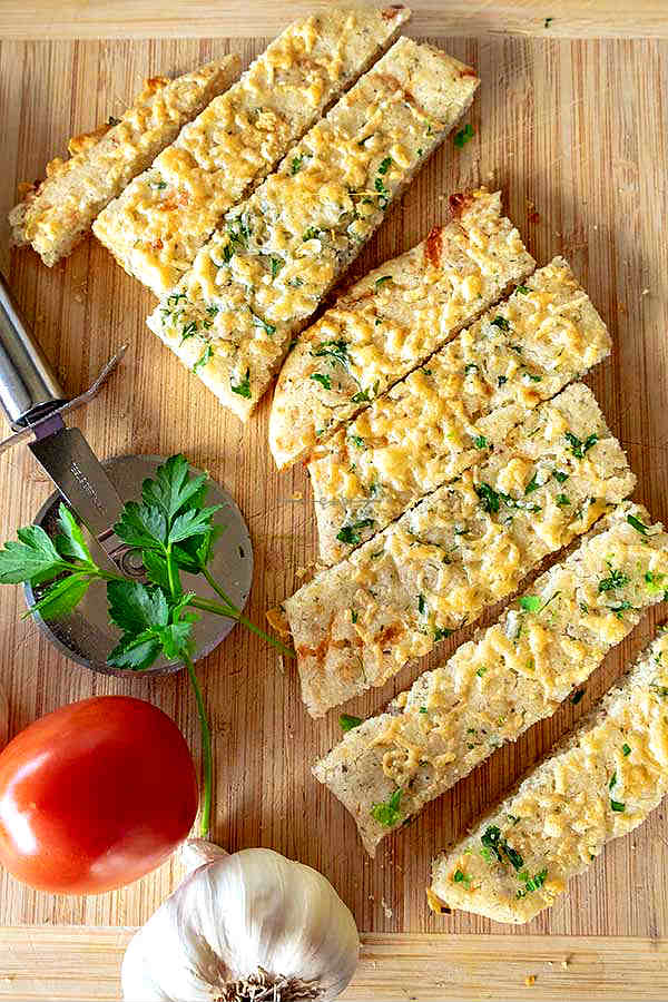 cheese and garlic flatbread, gluten free
