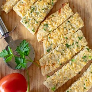 30 Minute Gluten-Free Cheese and Garlic Flatbread
