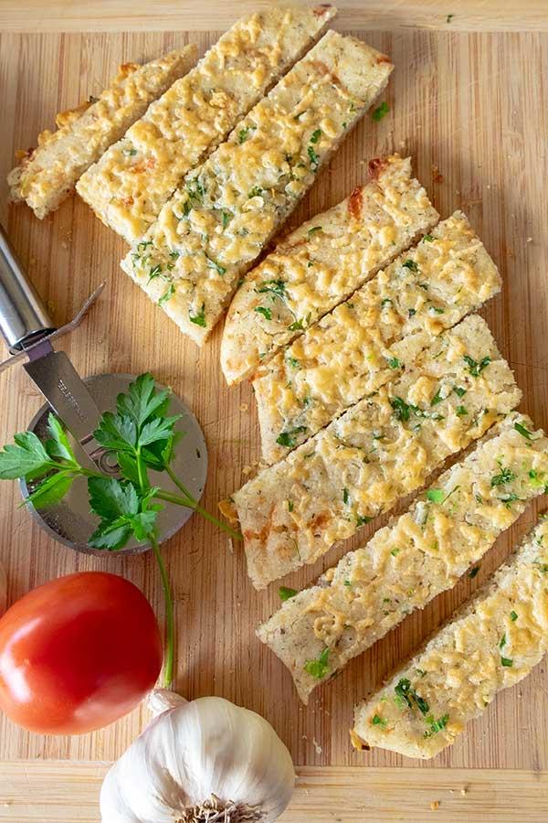 30 Minute Gluten-Free Cheese and Garlic Flatbread
