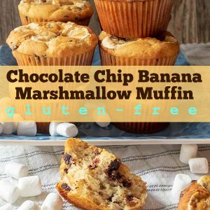 Gluten-Free Chocolate Chip Banana Marshmallow Muffin